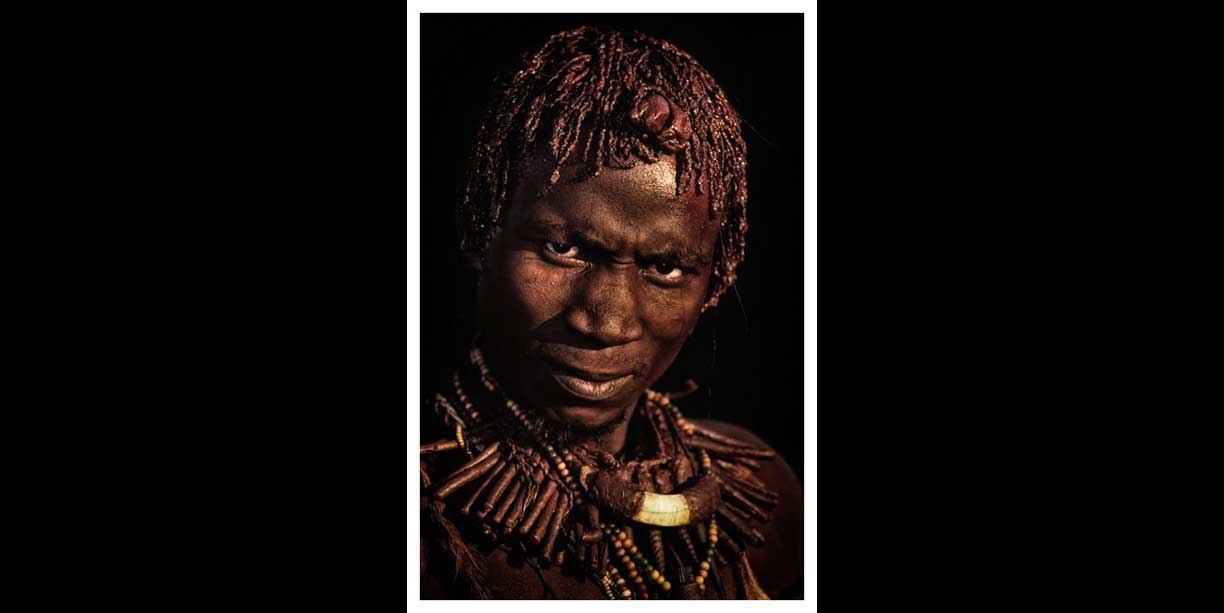 Portrait of an African traditional healer