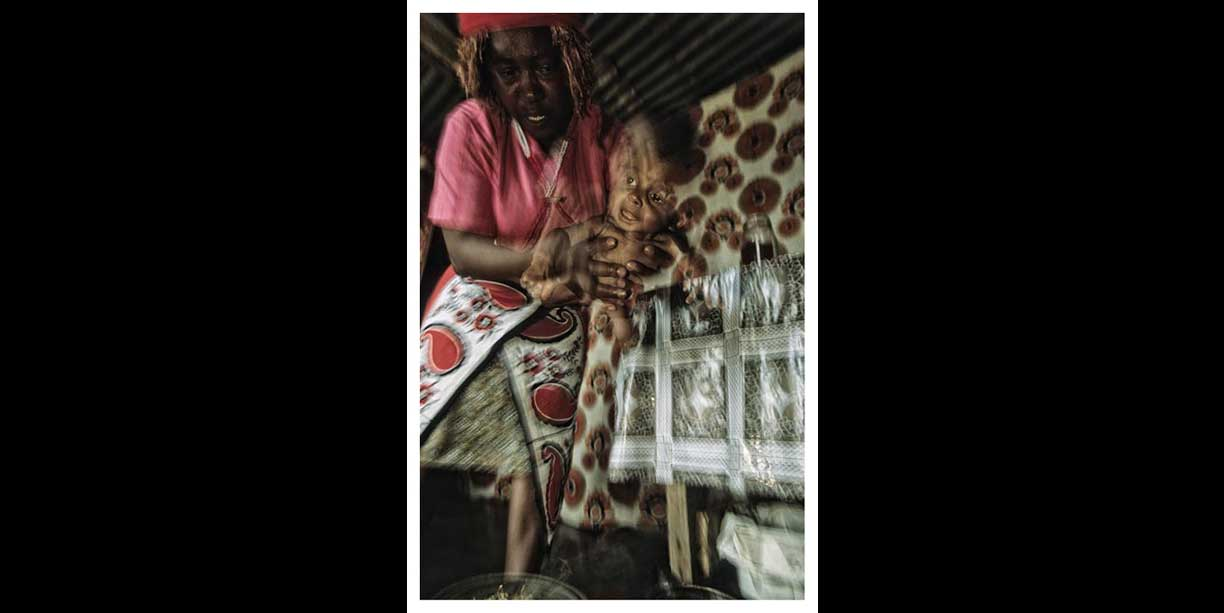 Traditional Healer and baby